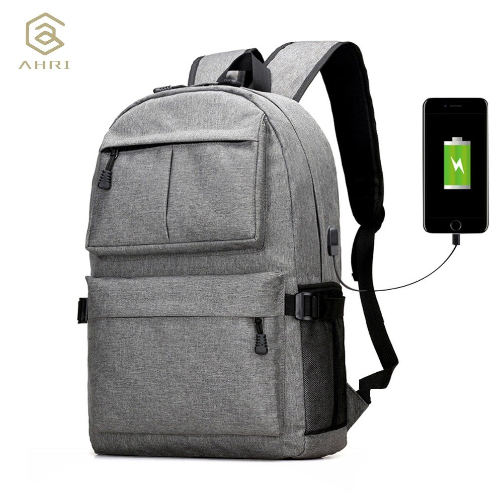 Ahri Usb Unisex Design Backpack Book Bags For School Backpack Casual Rucksack Daypack Oxford Canvas Laptop