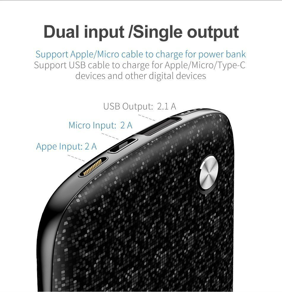 Baseus Plaid 10000mah Power Bank Dual Usb (10)
