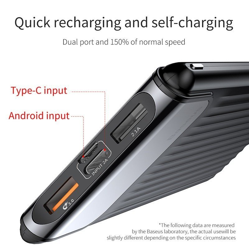 Baseus Quick Charge 3.0 Power Bank 10000mah (10)
