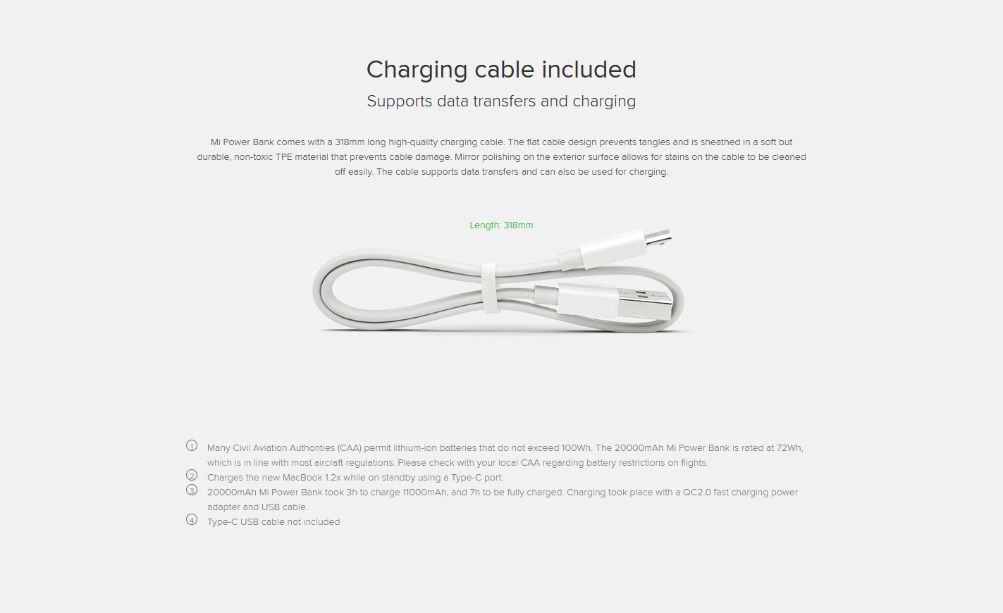 Charging Cable Included
