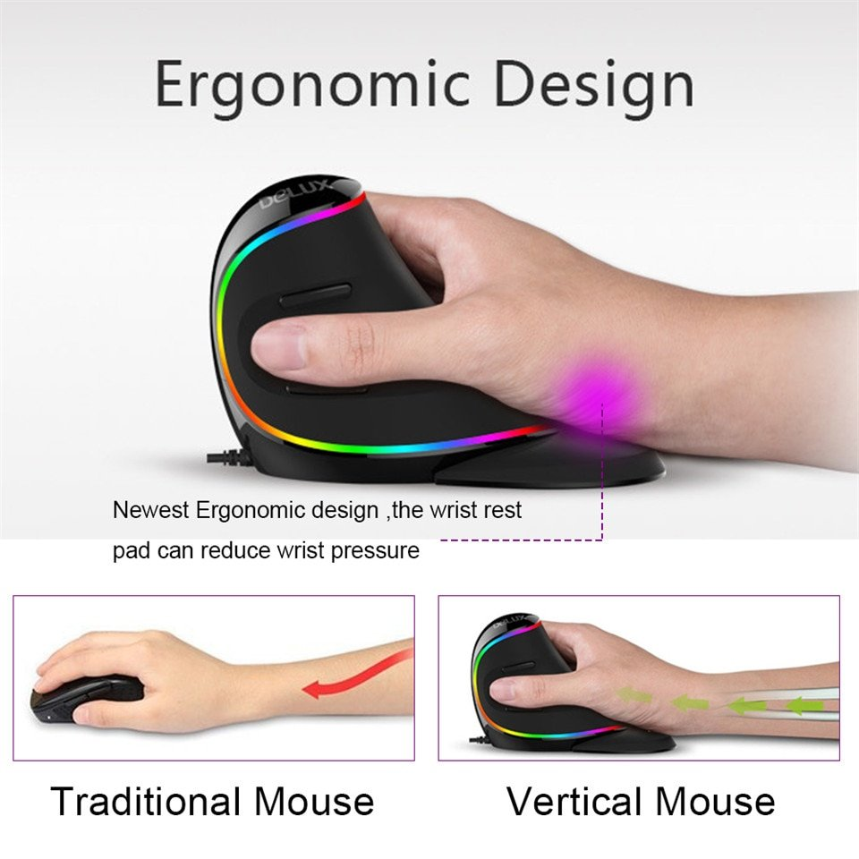 Delux M618 Ergonomic Vertical Mouse (3)