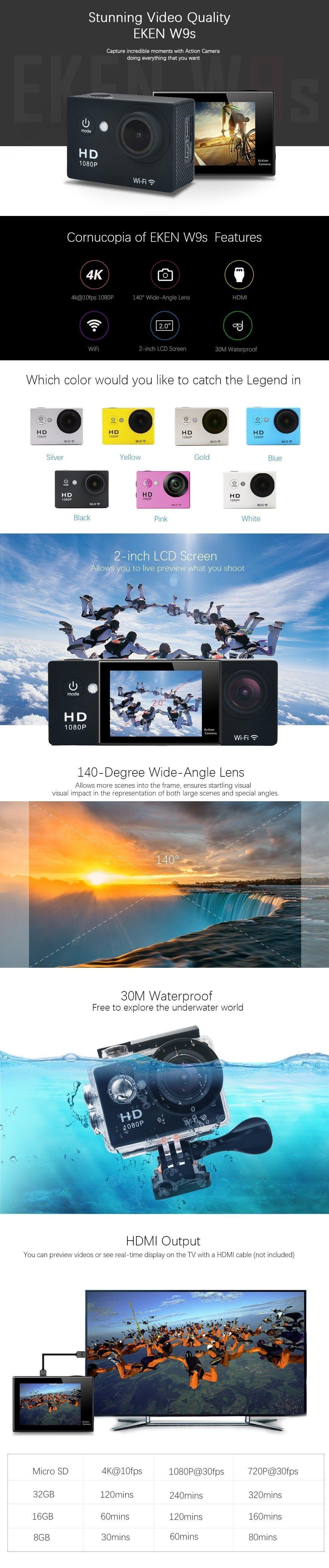 Eken W9s Sport Action Camera