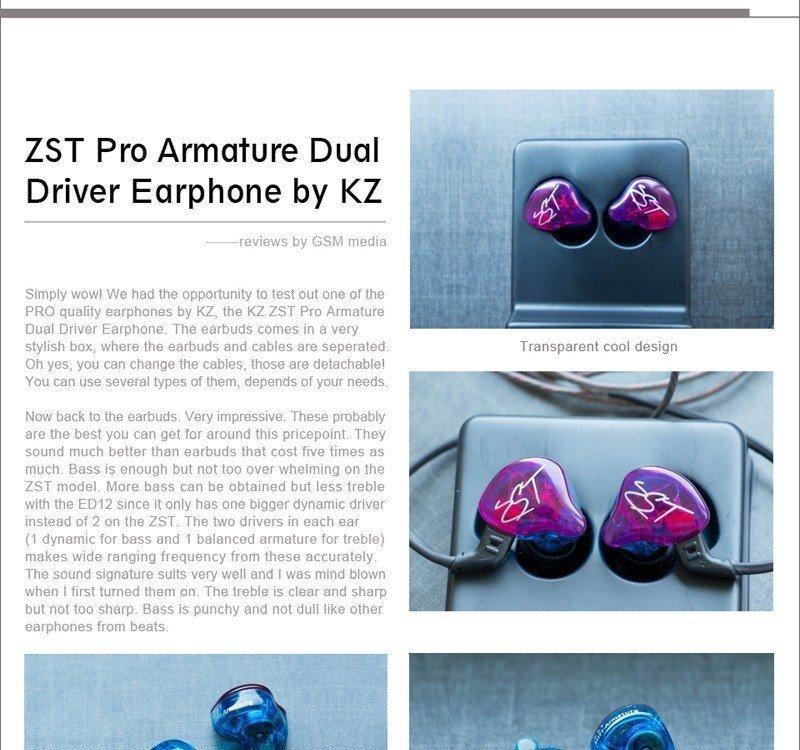 Kz Zst Pro Dual Driver Earphones (3)