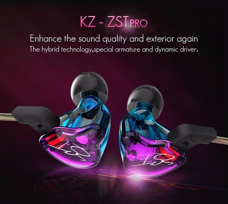 Kz Zst Pro Dual Driver Earphones (6)