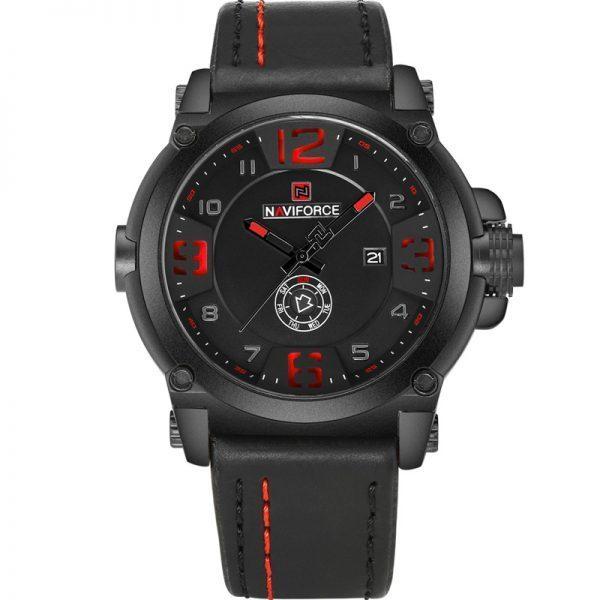 Naviforce Mens Watches Top Brand Luxury Sport Quartz Watch Leather Strap Clock Men Waterproof