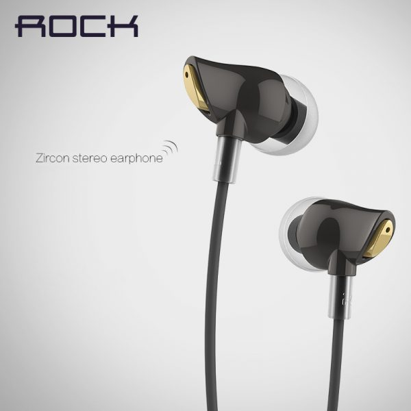 Original Rock Zircon Stereo Earphone 3 5mm In Ear Earphone Nanoircon Earphone Headset Earbuds With