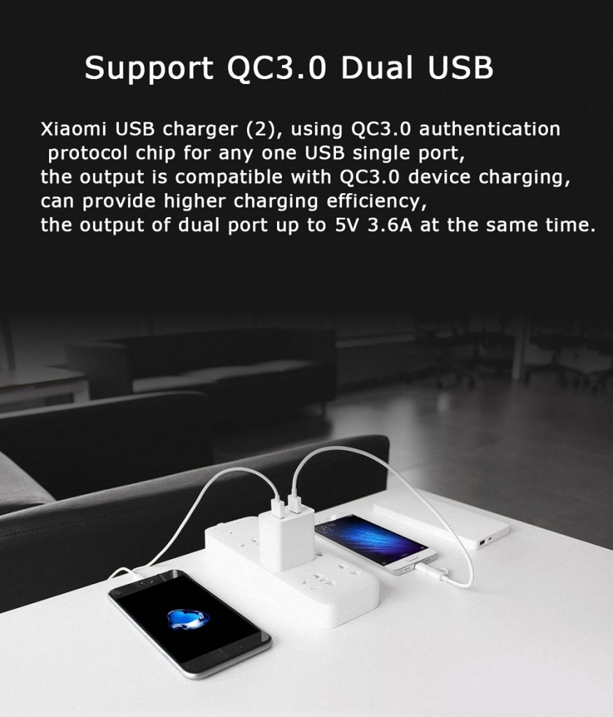 Original Xiaomi Usb Qc3 0 Travel Charger (2)