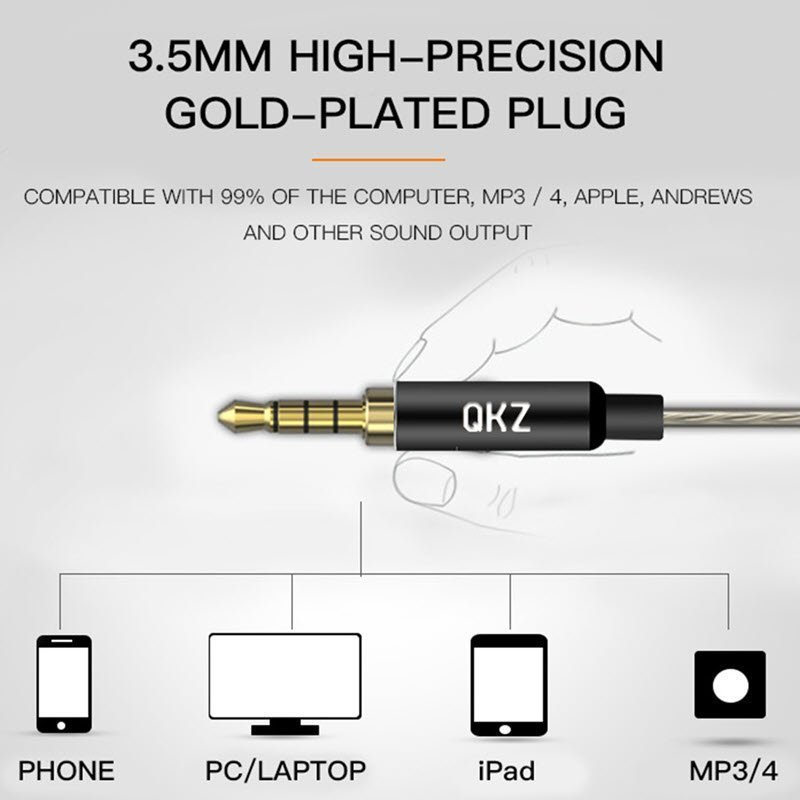 Qkz Dm8 Earphones Mini Dual Driver