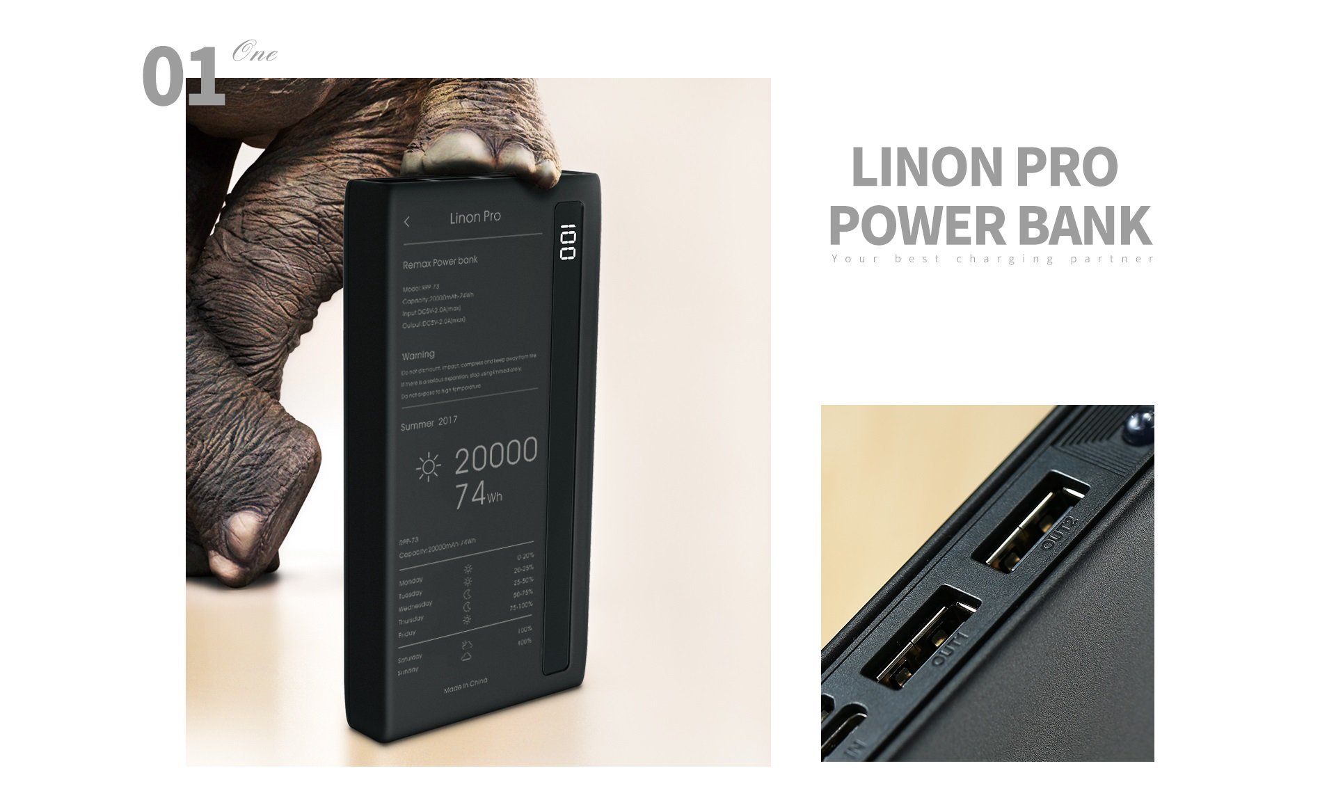 Remax Linon Pro Power Bank 20000mah (3)