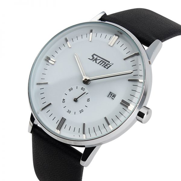 Skmei 9083 Luxury Brand Watches Male Fashion Casual Quartz Watch Classic Genuine Leather Strap Men Wristwatch (1)