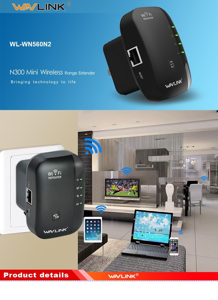 Wavlink N300 Wifi Repeater & Router (1)