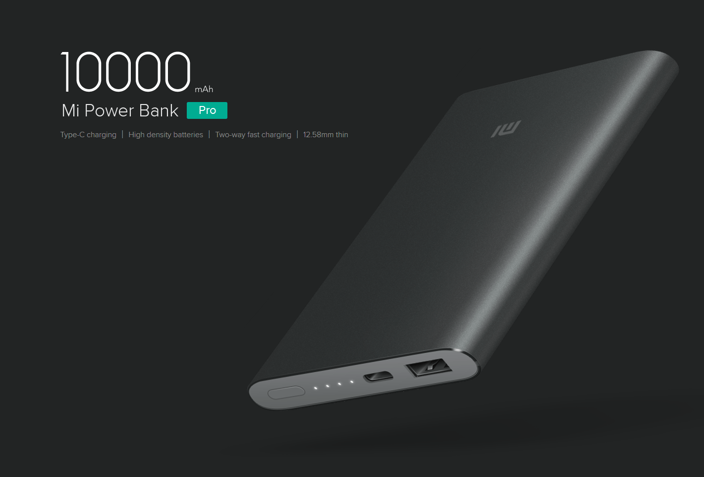 Xiaomi 10000mah Mi Power Bank Pro