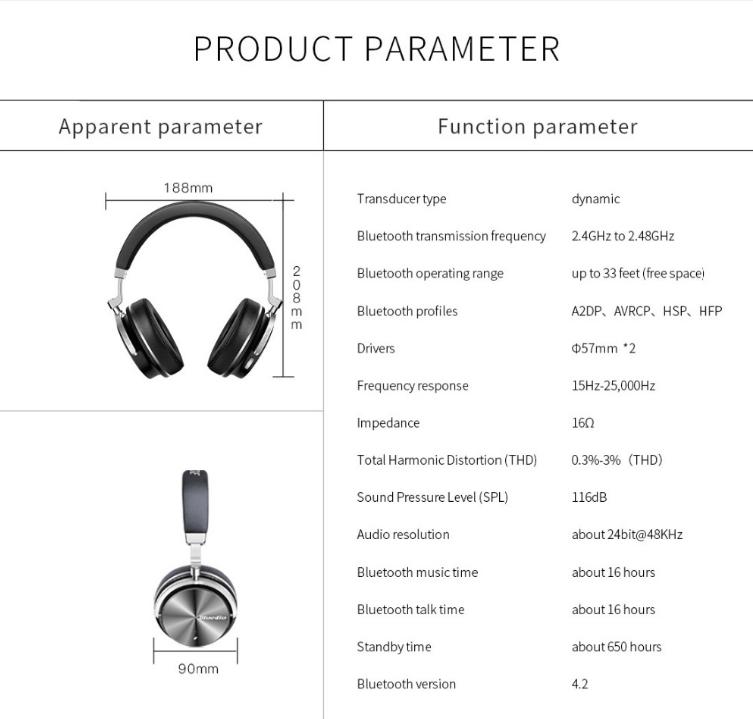 Bluedio T4s Bluetooth Headphones (1)