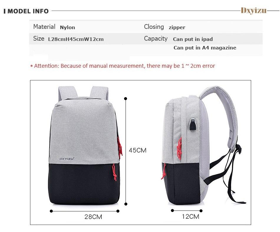 Dxyizu Ws54 Smart Usb Backpack (17)