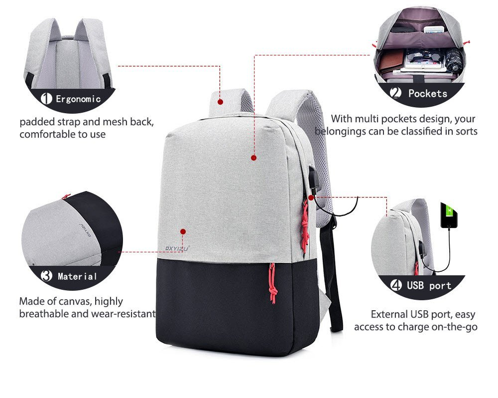 Dxyizu Ws54 Smart Usb Backpack (7)