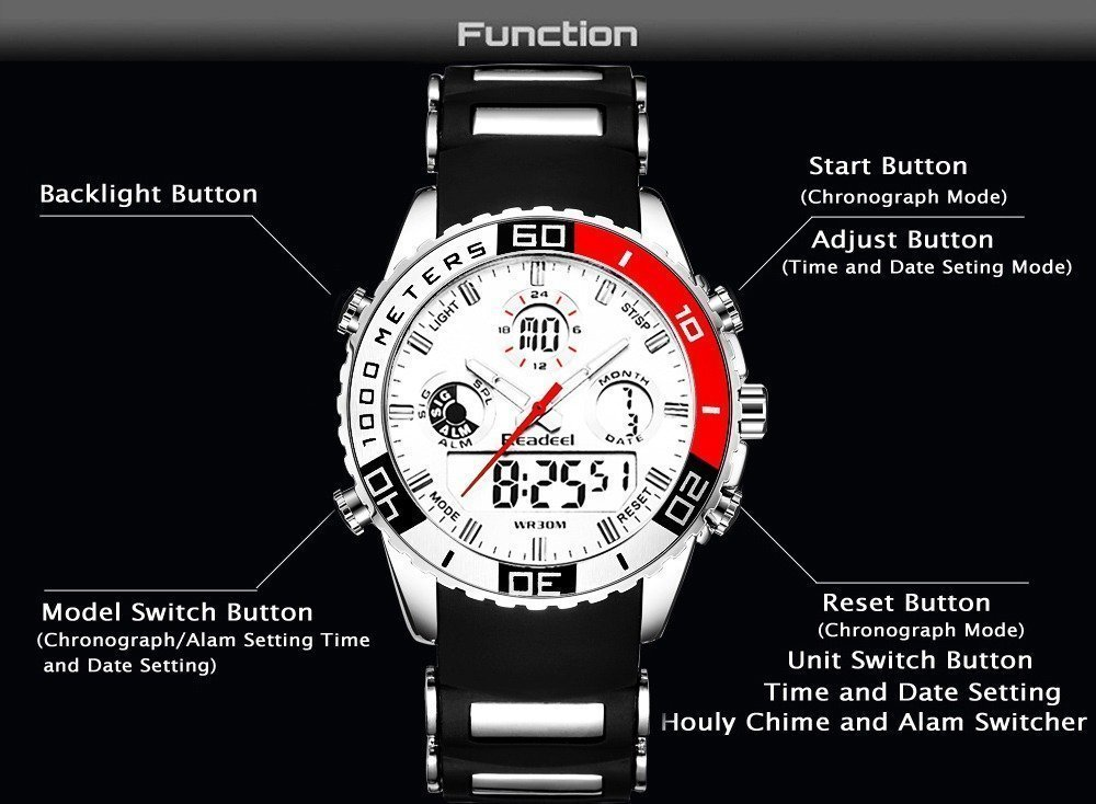 Readeel Digital Analog Dual Time Wrist Watch (12)