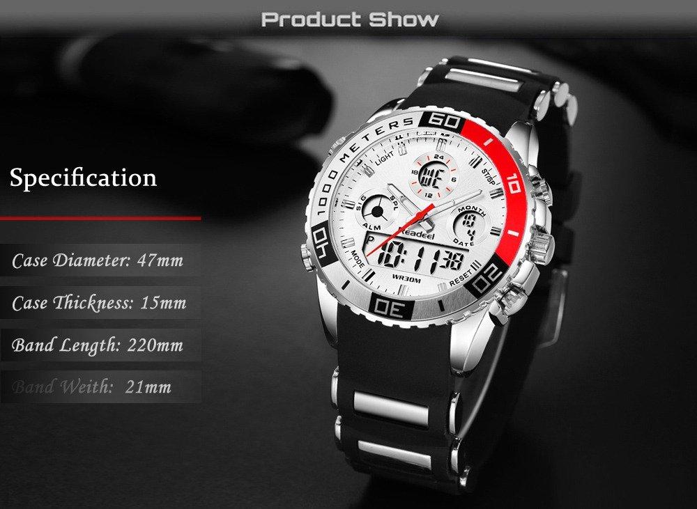 Readeel Digital Analog Dual Time Wrist Watch (13)