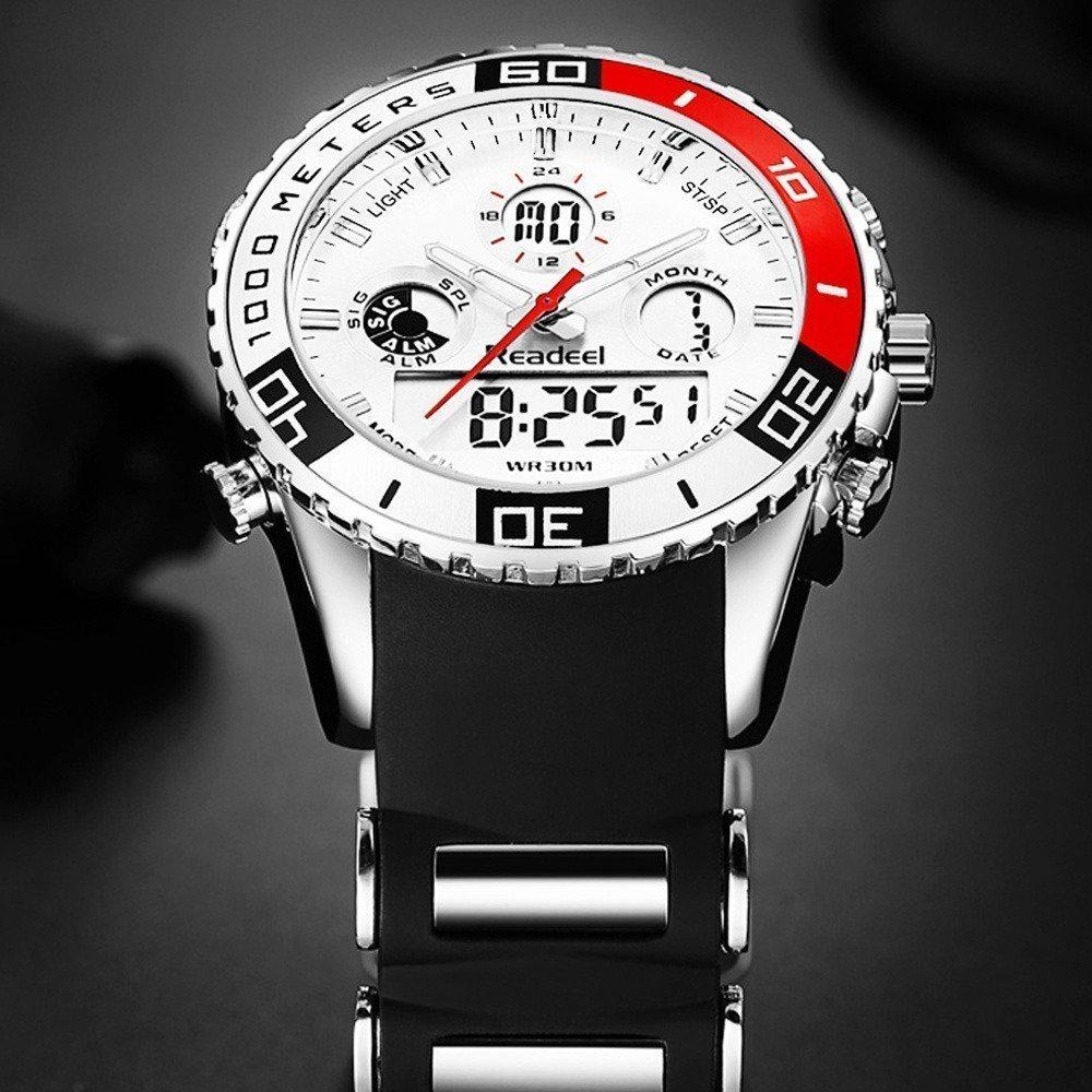 Readeel Digital Analog Dual Time Wrist Watch (15)