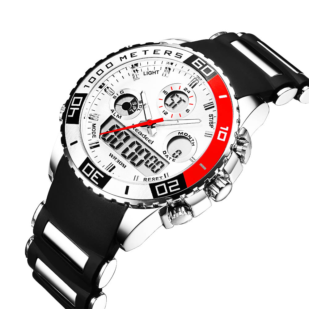 Readeel Digital Analog Dual Time Wrist Watch (4)