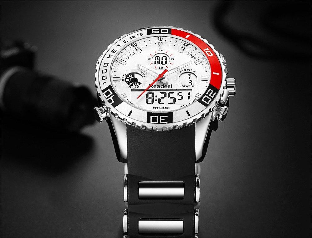 Readeel Digital Analog Dual Time Wrist Watch (6)