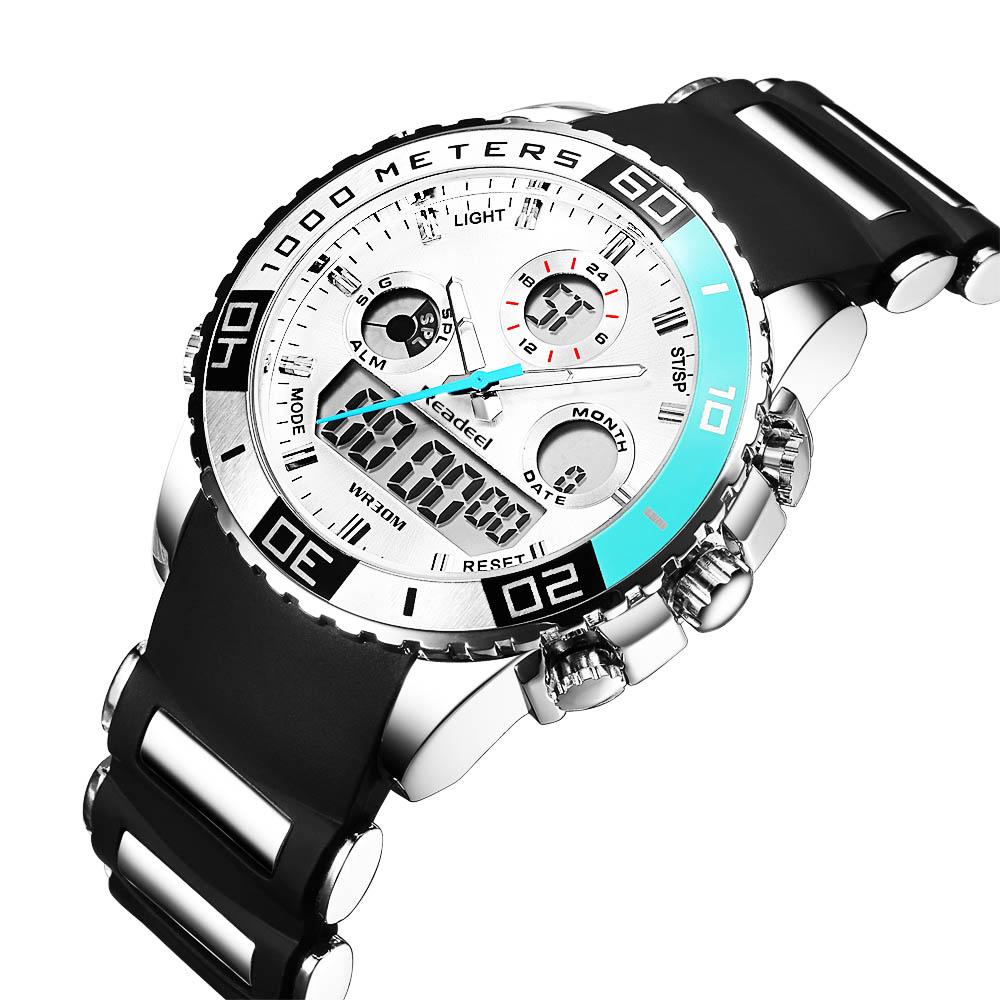 Readeel Digital Analog Dual Time Wrist Watch (8)