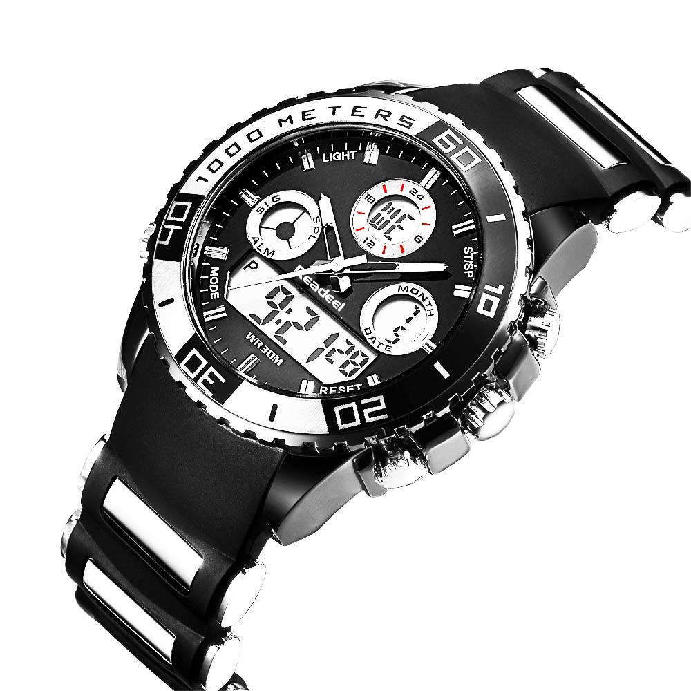 Readeel Digital Analog Dual Time Wrist Watch (9)