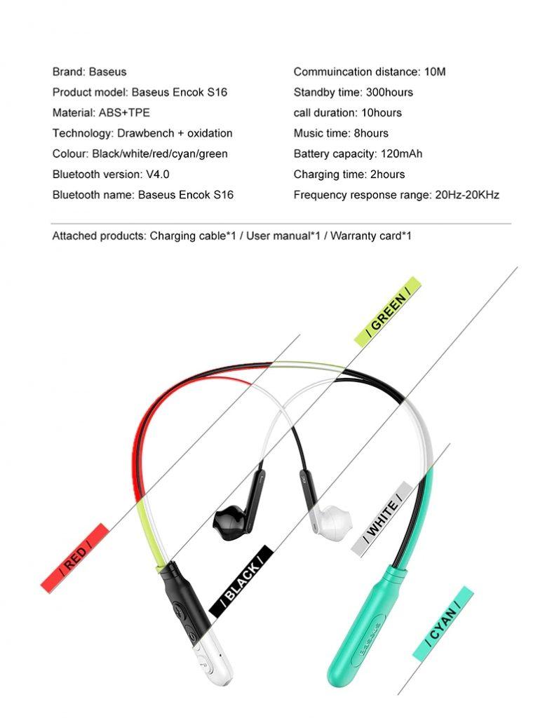 Baseus S16 Professional In Ear Bluetooth Earphone (6)