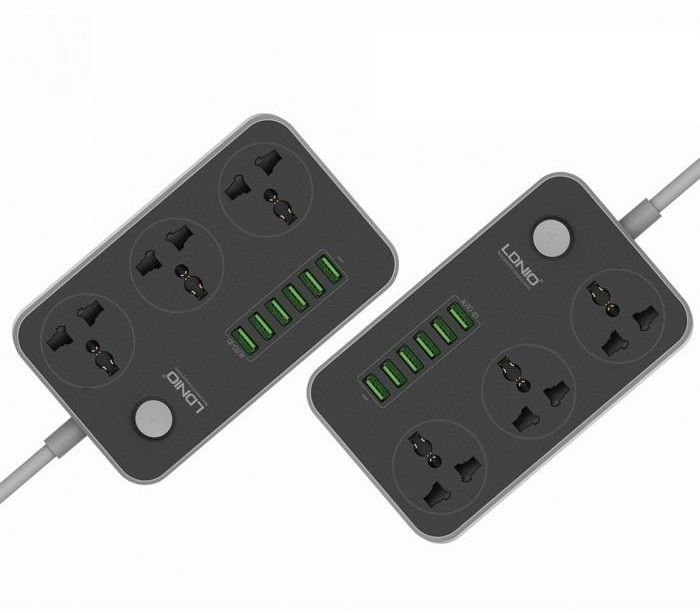 Ldnio 6 Usb Ports And 3 Power Socket Extension (14)