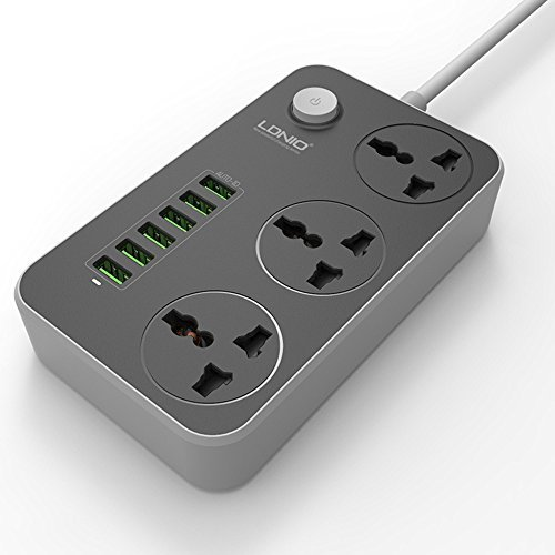 Ldnio 6 Usb Ports And 3 Power Socket Extension (6)