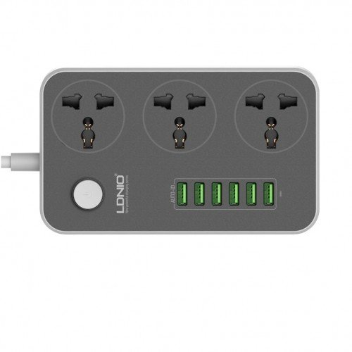 Ldnio 6 Usb Ports And 3 Power Socket Extension (7)
