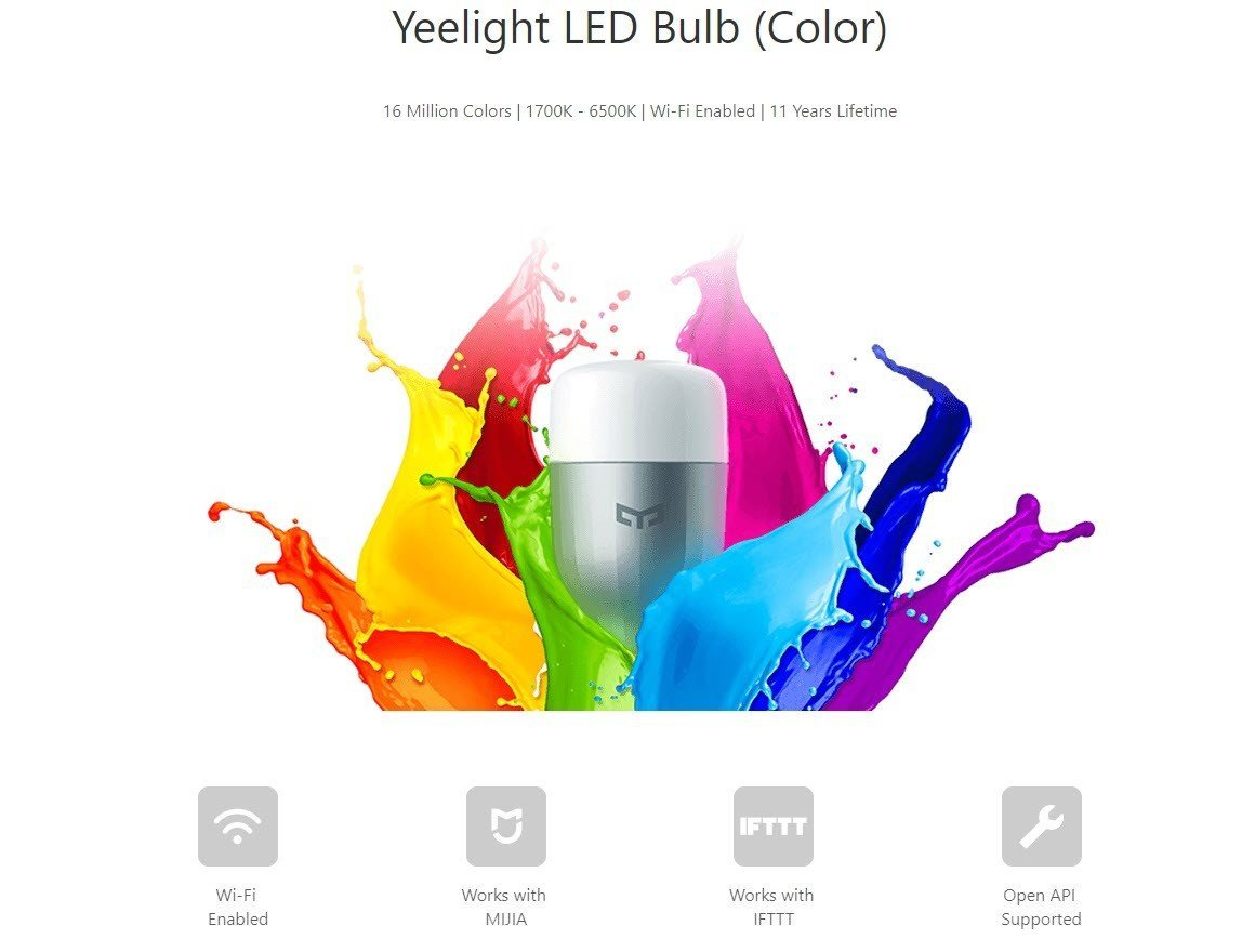 Xiaomi Yeelight Smart Led Bulb Colorful (1)