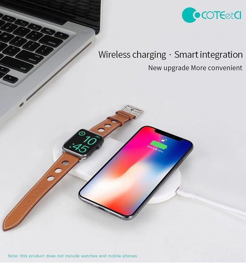Coteetci 2 In 1 Wireless Charging Pad (1)
