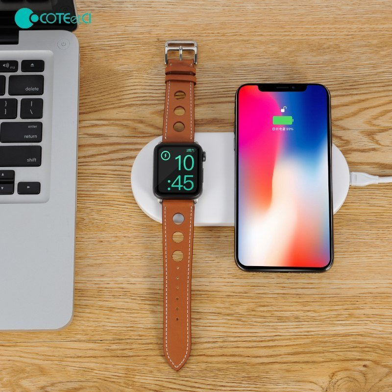 Coteetci 2 In 1 Wireless Charging Pad (2)