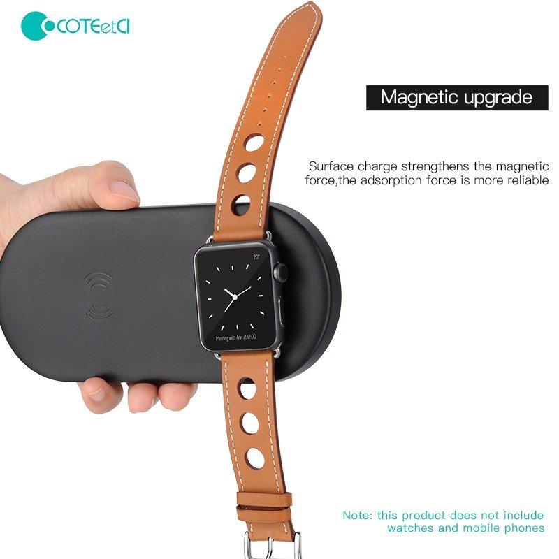 Coteetci 2 In 1 Wireless Charging Pad (3)