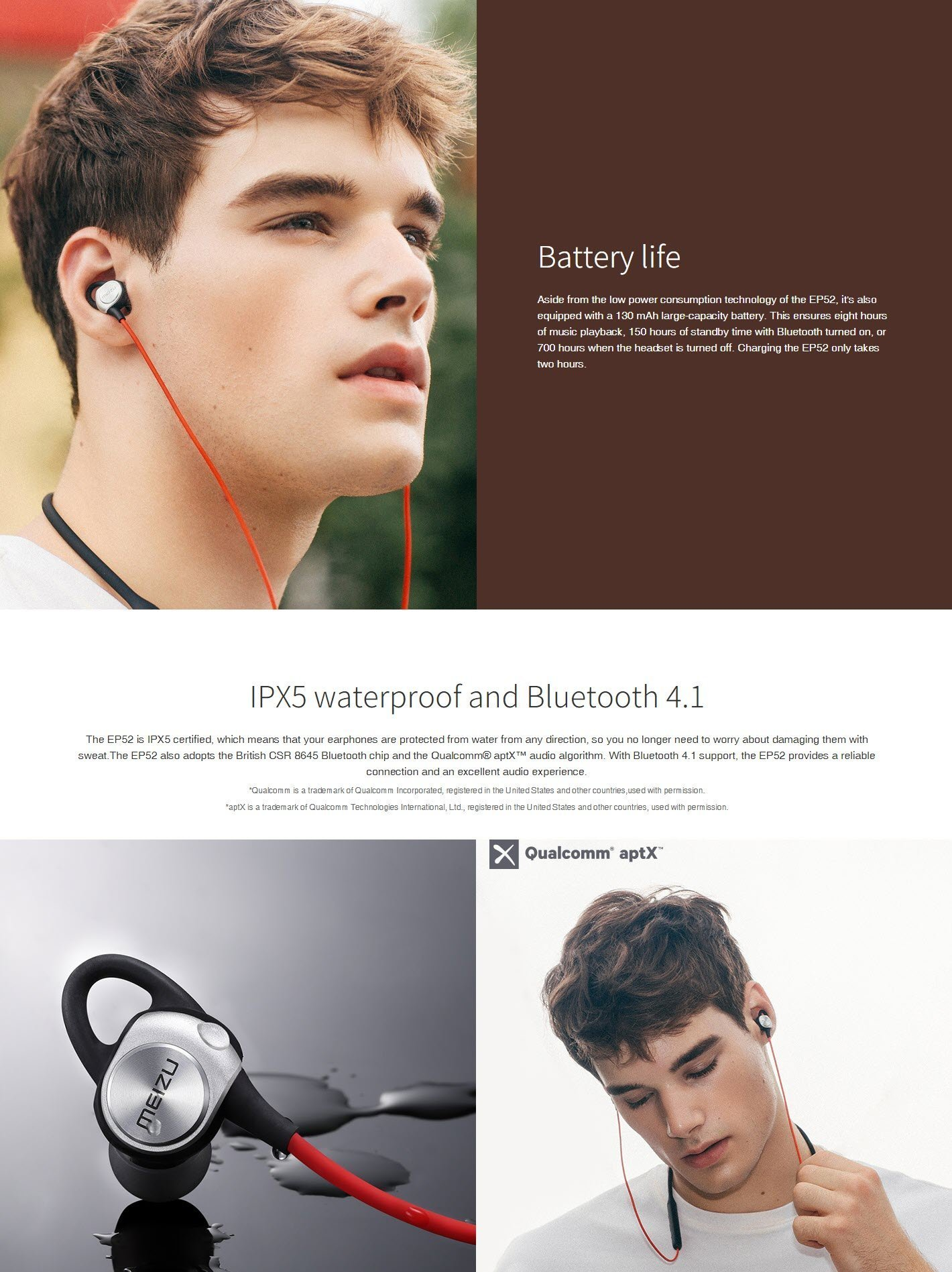 Meizu Ep52 Sports Bluetooth Earphones (15)