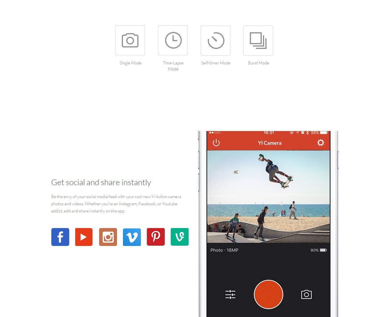Xiaomi Yi Action Camera 2k With Monopod (10)