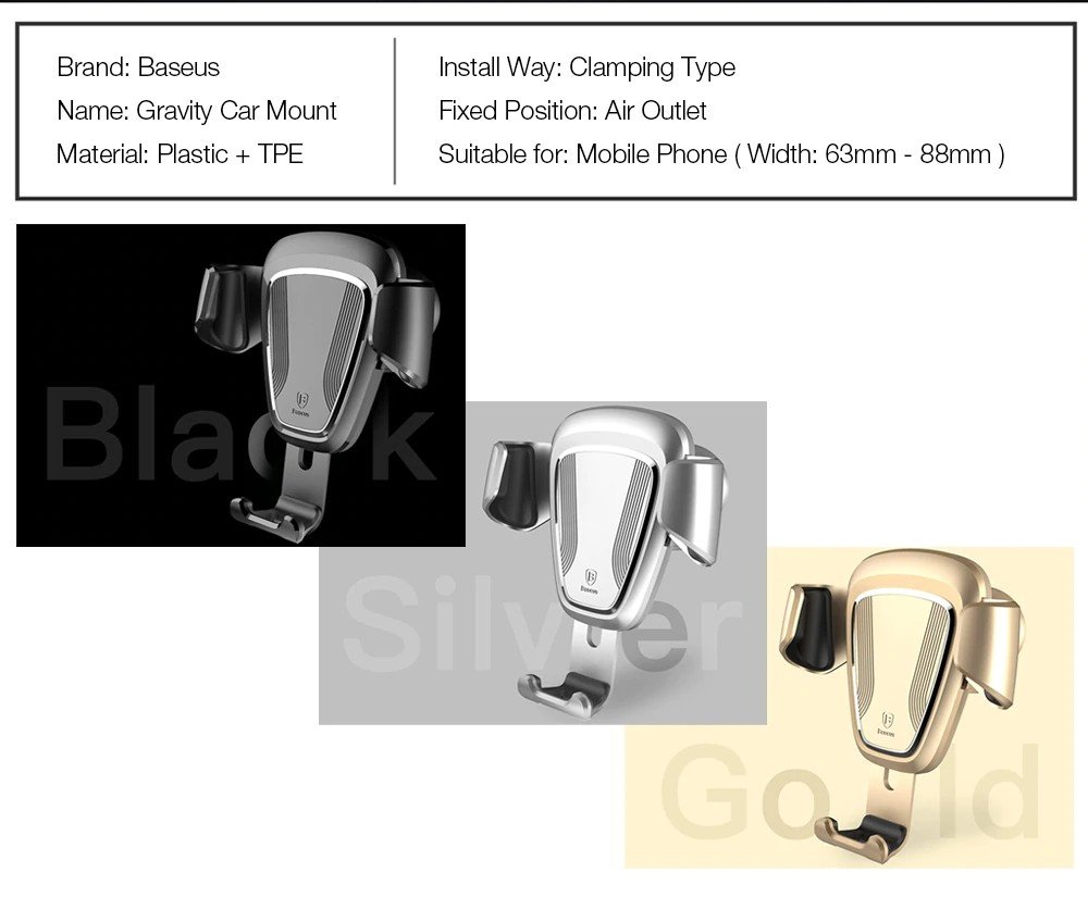 Baseus Gravity Car Mount (12)