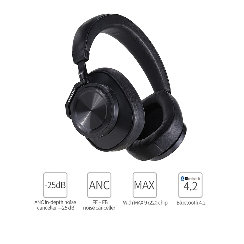 Bluedio T6 (turbine) Active Noise Cancelling Bluetooth Headphones (1)