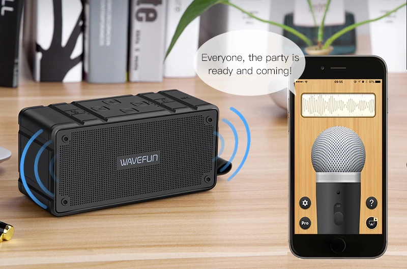 Wavefun Cuboid Mini Portable Ip65 Waterproof Wireless Bluetooth Speaker (5)
