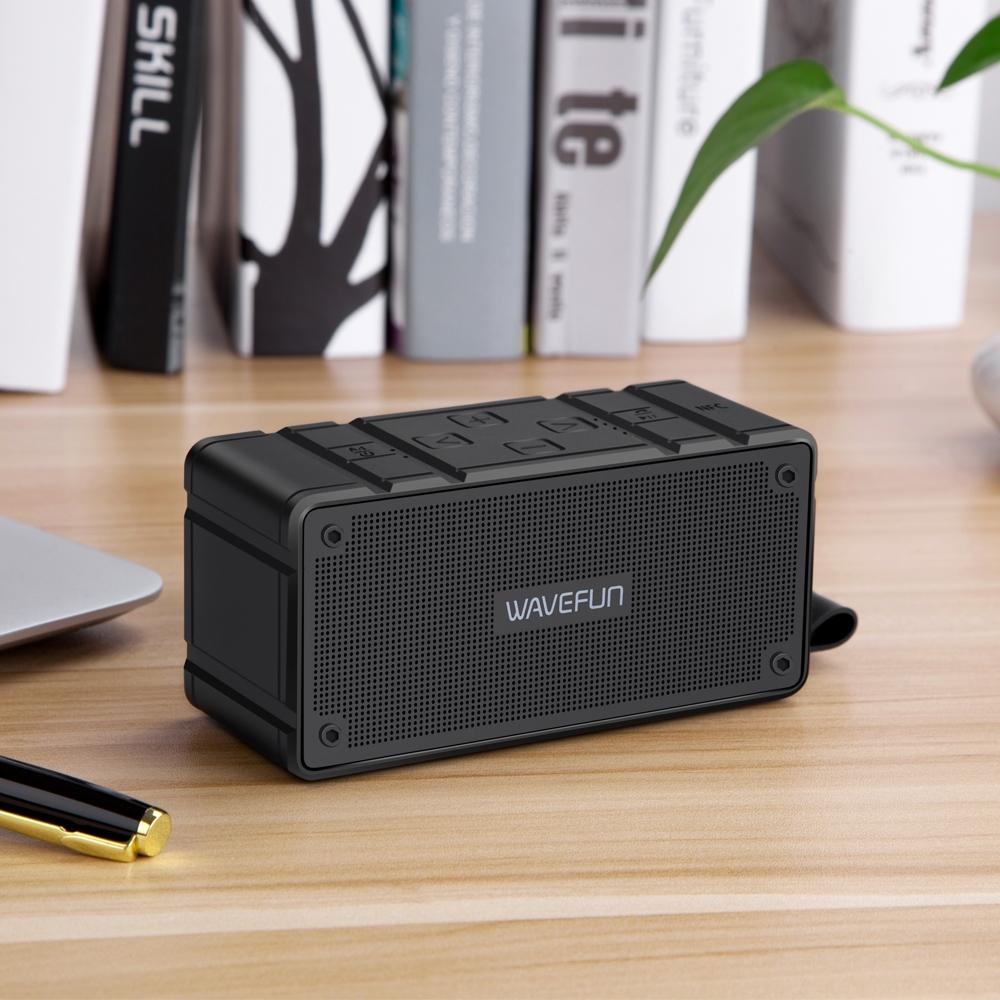 Wavefun Cuboid Mini Portable Ip65 Waterproof Wireless Bluetooth Speaker (5)