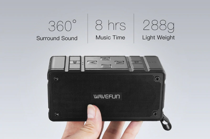 Wavefun Cuboid Mini Portable Ip65 Waterproof Wireless Bluetooth Speaker (8)