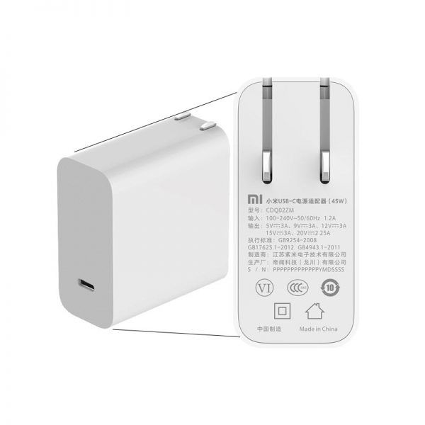 Xiaomi Mi Usb C Charger 45w Max Smart Output Type C (1)