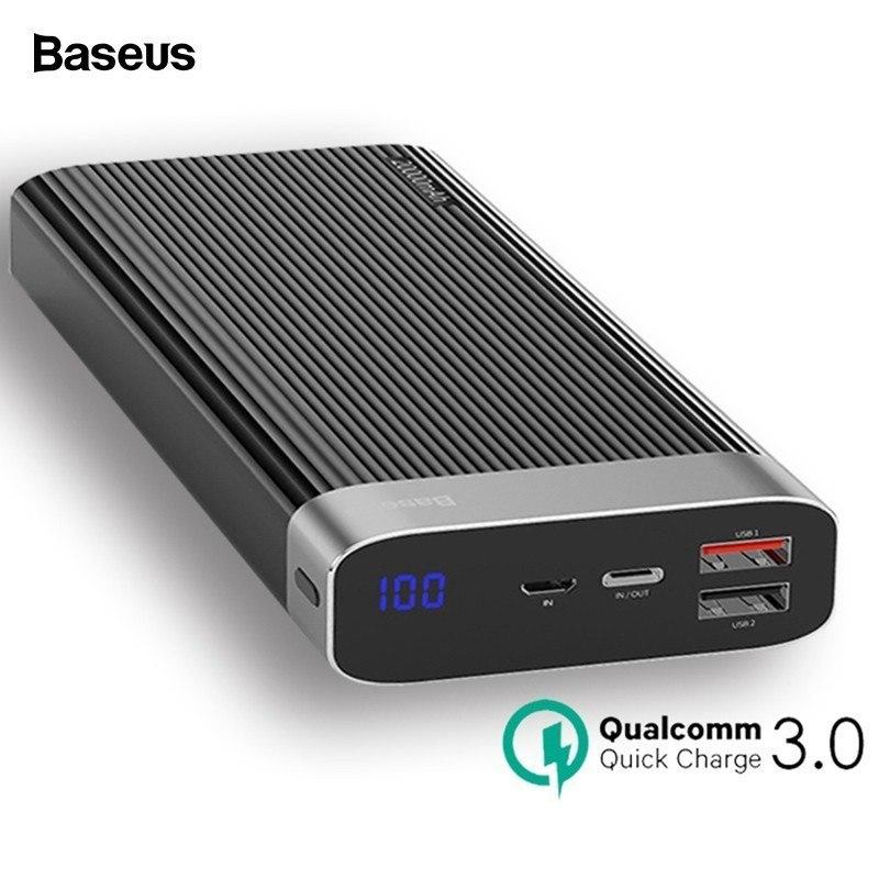 Baseus 20000mah Qc 3 0 Power Bank With Led Display (11)