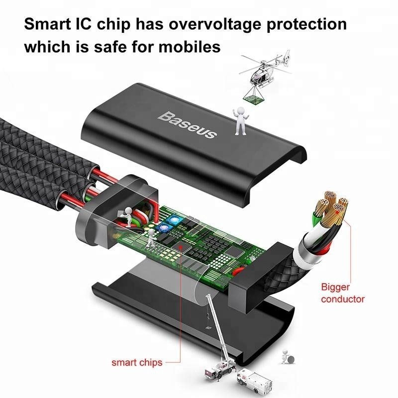 Baseus Mvp 3 In 1 Lightning Micro Usb Type C Cable (9)