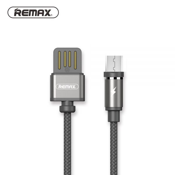 Remax Gravity Rc 095i Magnetic Nylon Braided Lightning Usb Charging Cable (3)