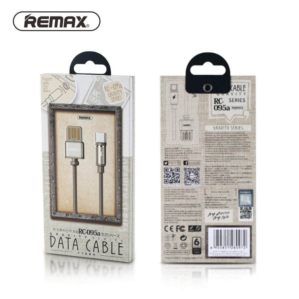 Remax Gravity Rc 095i Magnetic Nylon Braided Lightning Usb Charging Cable (5)