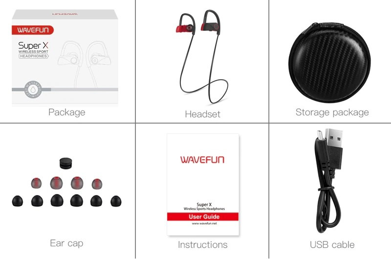 Wavefun Super X Sport Bluetooth Earphones Stereo Earbuds‎ (1)