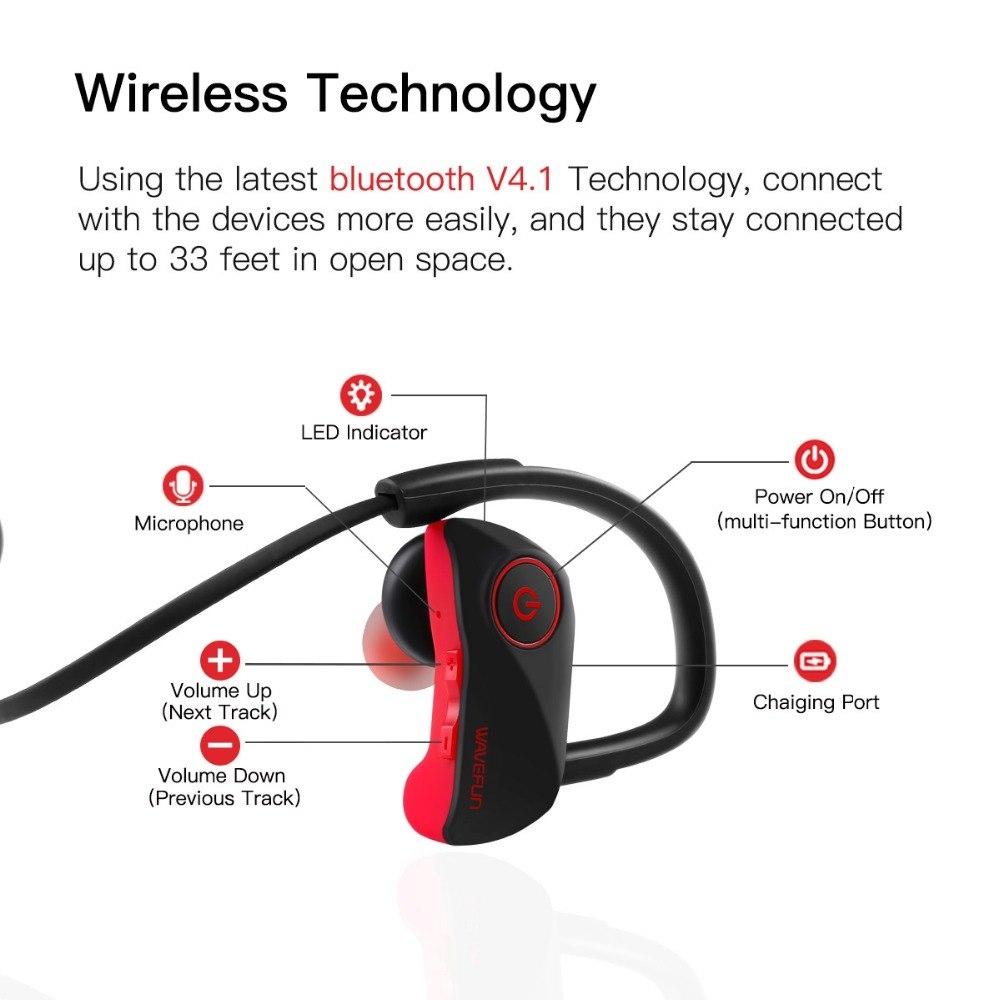 Wavefun Super X Sport Bluetooth Earphones Stereo Earbuds (1)
