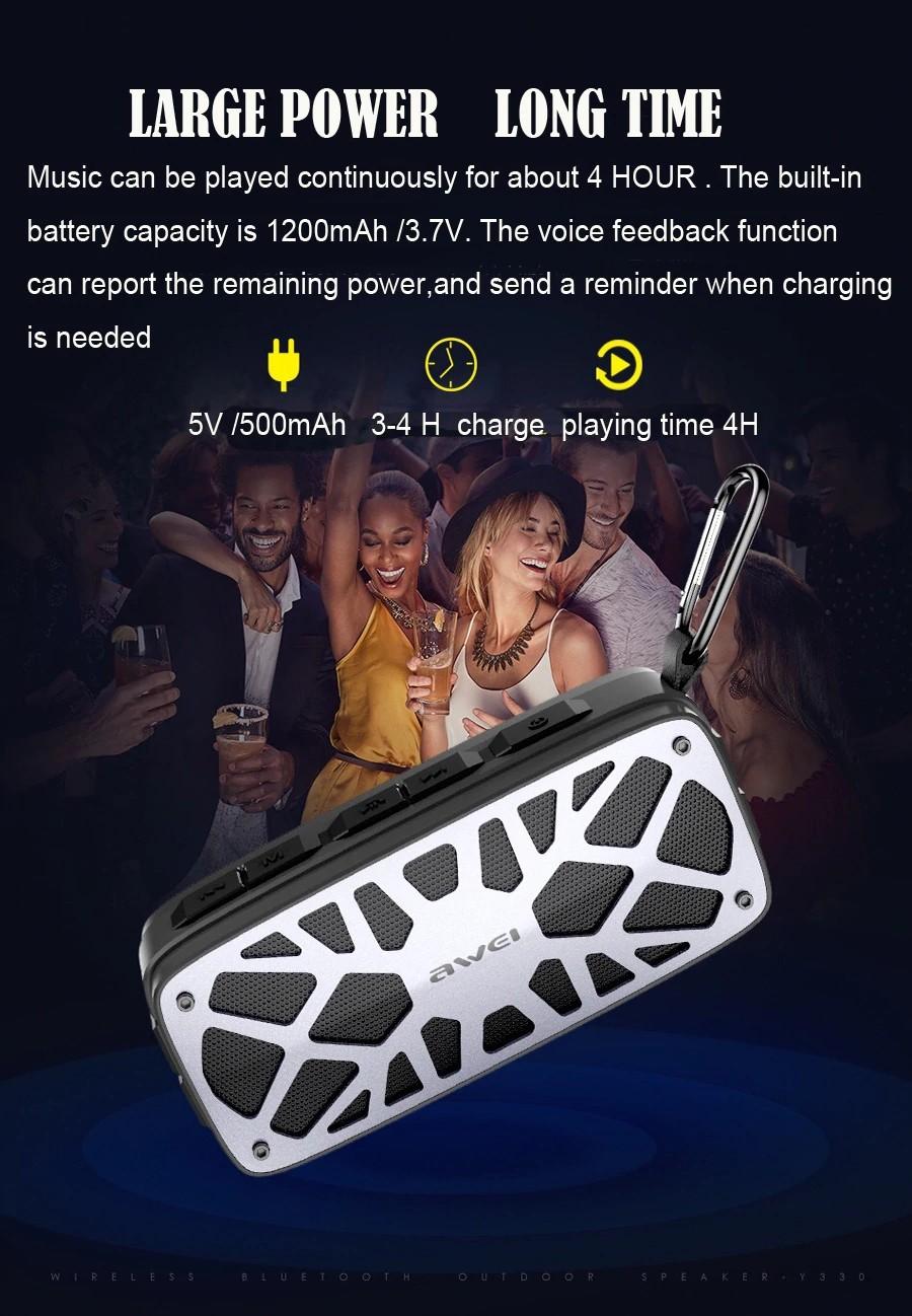 Awei Y330 Wireless Tws Bluetooth Speaker (8)