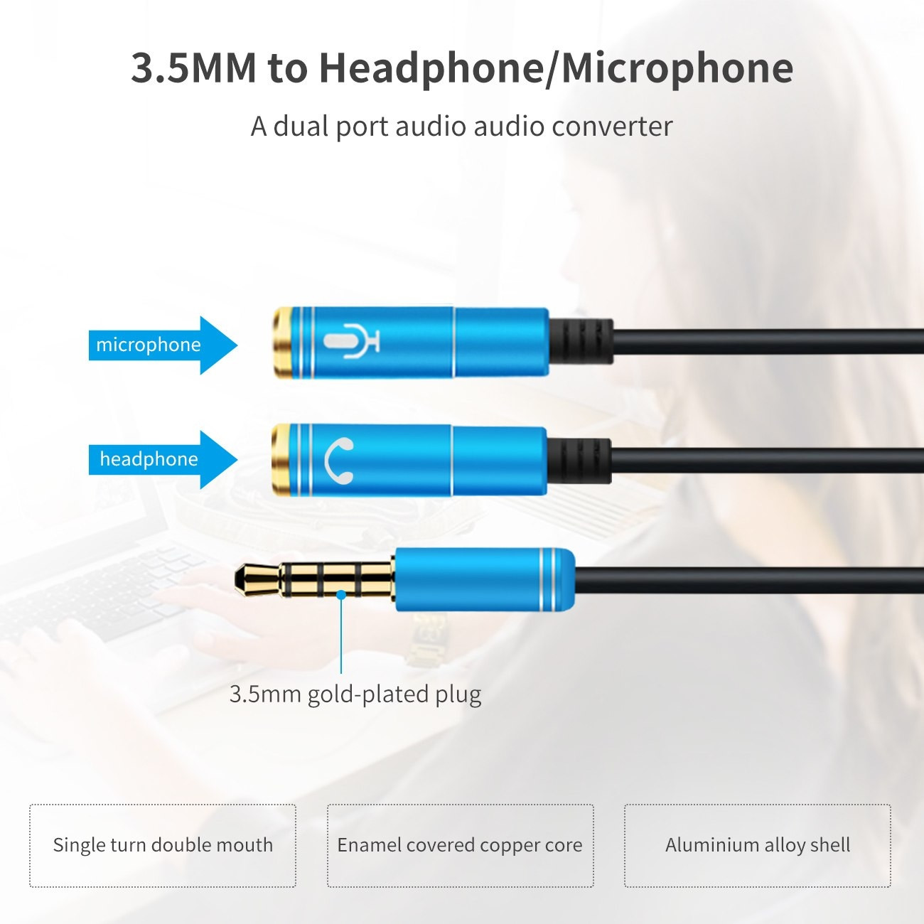 Headphone Mic Audio Splitter Male To Female (9)